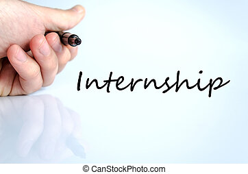Pen in the hand internship concept - Pen in the hand...