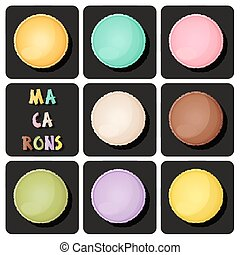 Collection of macaron - Illustration of macaron