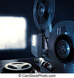 Film Projector - Toned Photo of the Old Film Projector in...