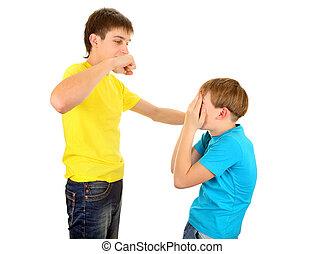 Teenager threaten the Kid - Teenager threaten a Kid on the...