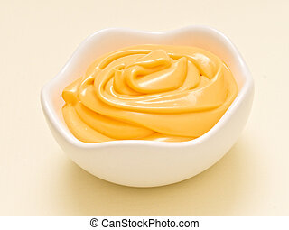 tex-mex cheese sauce dip - close up of a bowl of tex-mex...
