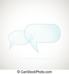 Glass Chat Bubbles - Illustration of glass chat bubbles...