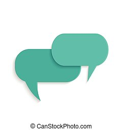 Chat Bubbles - Illustration of chat bubbles isolated on a...