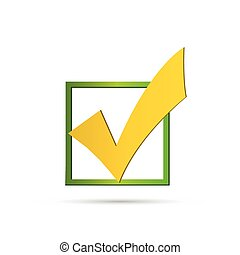 Check Mark Illustration - Illustration of a colorful check...