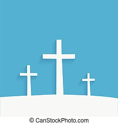 Religious Crosses - Illustration of religious crosses...