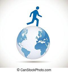 Figure on Earth Illustration