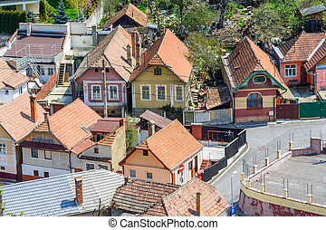 Brasov upper view-landmark - Brasov is the 8th largest...