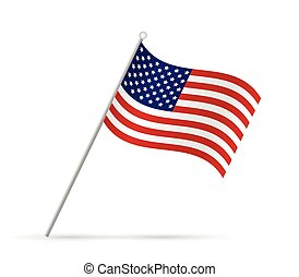 USA Flag Illustration - Illustration of a flag from the USA...