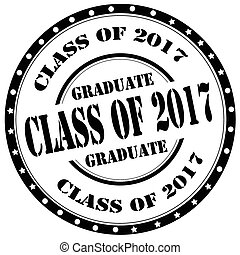 Class Of 2017-stamp - Grunge rubber stamp with text Class Of...