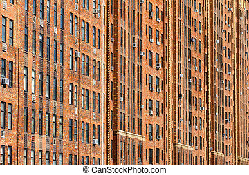 New York City Apartment Building Background - New York City...