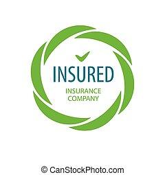 Abstract vector logo Insurance company