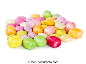Colorful dragees candy
