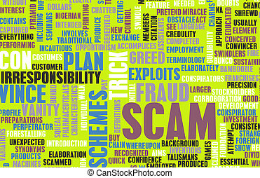 Scam or Scams Online on the Internet as Concept