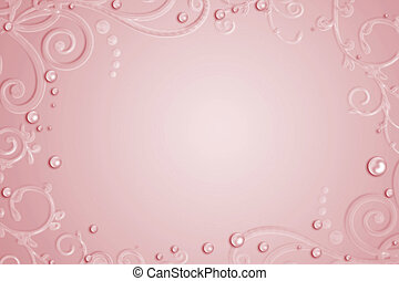Abstract pink background with drops, swirl