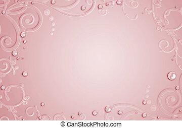 Extracto, rosa, Plano de fondo, con, gotas, remolino,