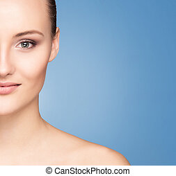 Portrait of a young woman in makeup - Spa portrait of a...