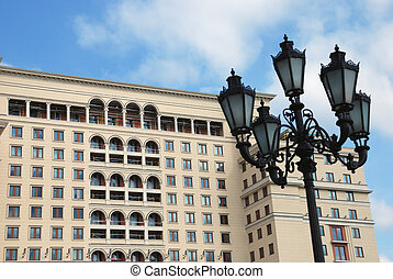 hotel Moskva - the building of the Moskva hotel in Moscow