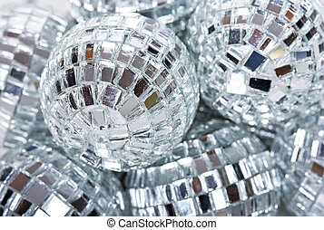 disco ball - shiny silver glass disco ball