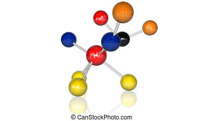 Animation of molecules. Science concept