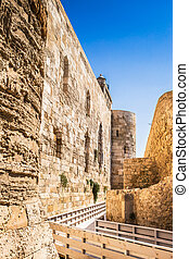 Siracusa fortress pathway, Sicily.
