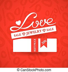 Bright promotional banner with white gift box with ribbon...