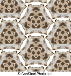 Abstract seamless Giraffe skin pattern in yellow and brown