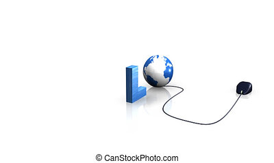 Internet animation spelling Download with a mouse and the...