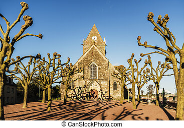 Sainte Mere Eglise - the historical church of Sainte Mere...