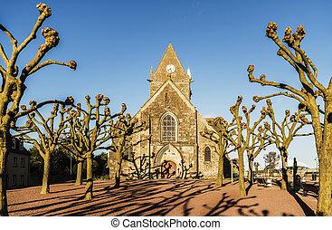 Sainte Mere Eglise - the historical church of Sainte Mere...