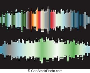 Abstract colorful gradient indicator set. Abstrsct vector backgr