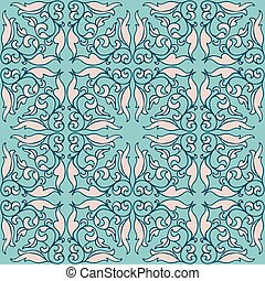 vintage44-07 - Vintage seamless pattern with decorative...