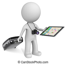 GPS Pad - The dude 3D character with camera holding...