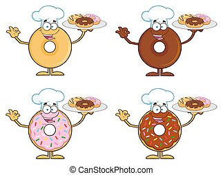 Four Cute Donuts 9. Collection - Four Cute Donuts Cartoon...
