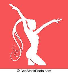 Women doing rhythmic gymnastics