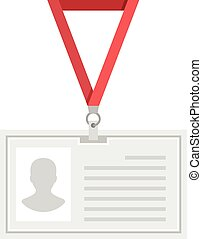 Vector lanyard badge template Creative flat design Original...