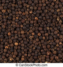 Black pepper zoomed in on