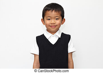 Japanese boy in the formal wear 5 years old