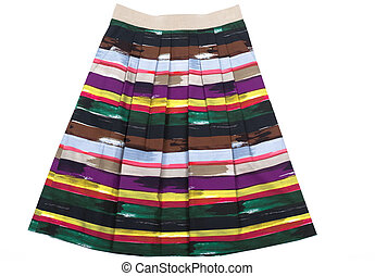 Variegated Women\'s skirt - Colored women\'s skirt. Isolated...