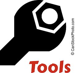 Spanner or wrench tool icon