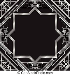 art deco abstract background