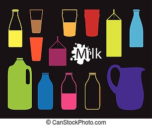 milk bottle silhouette
