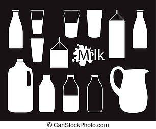 milk bottle silhouette