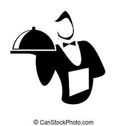 Waiter  isolated on a white background
