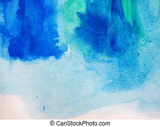 abstratos, aquarela, pintado, fundo,