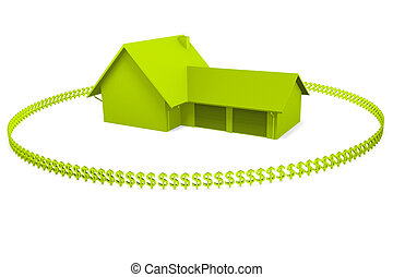 Immobilien - a 3d house on a white background