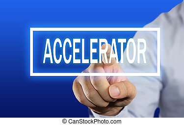 Accelerator Concept - Business concept image of a...