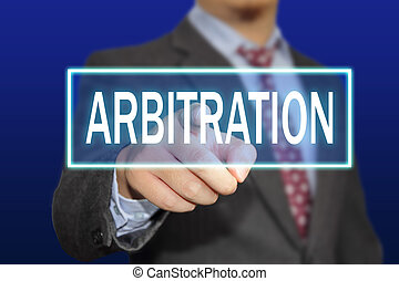 Arbitration Concept - Business concept image of a...