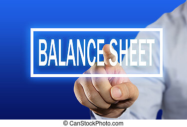 Balance Sheet Concept - Business concept image of a...