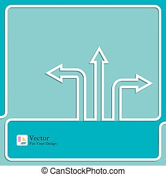 Vector background with direction arrow sign.