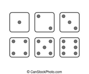 Craps icon set. Vector Illustration isolated on white...